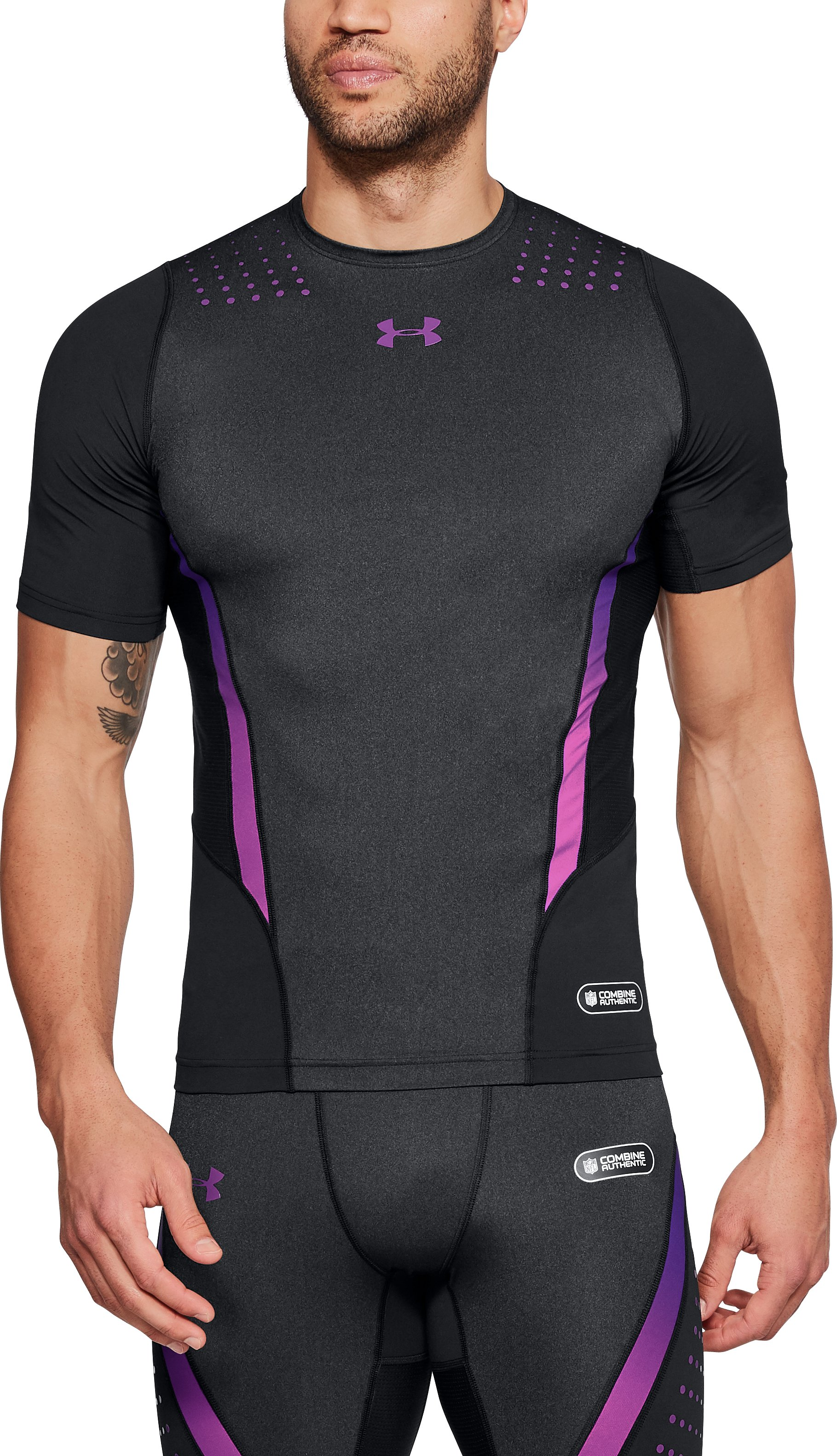 Men's NFL Combine Authentic Event Compression Short Sleeve, Black