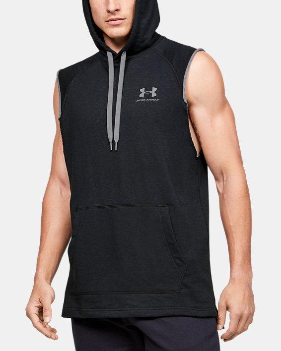 Men's UA Sportstyle Terry Sleeveless Hoodie, Black, pdpMainDesktop image number 0