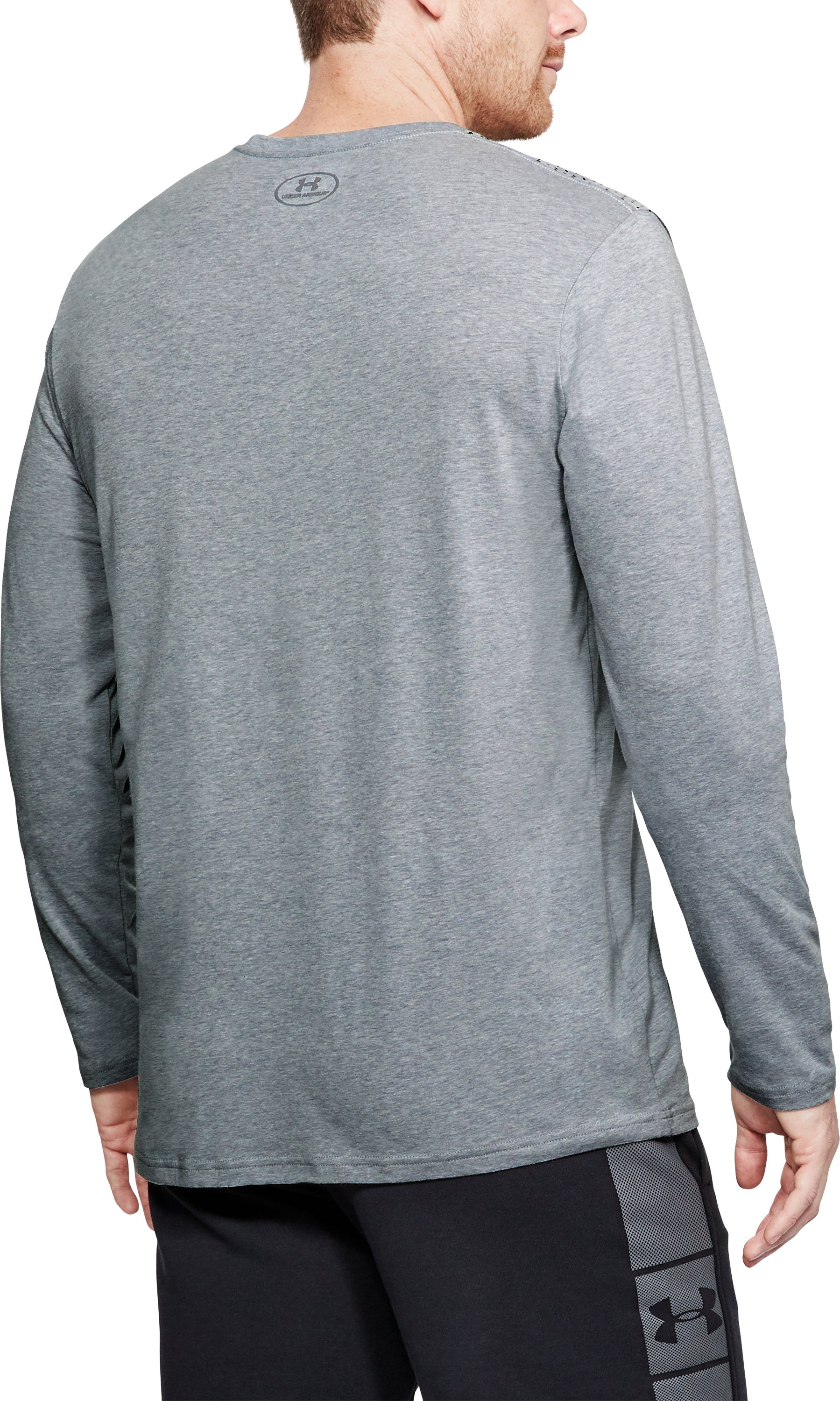 Men's UA Branded Gradient Long Sleeve, STEEL LIGHT HEATHER,