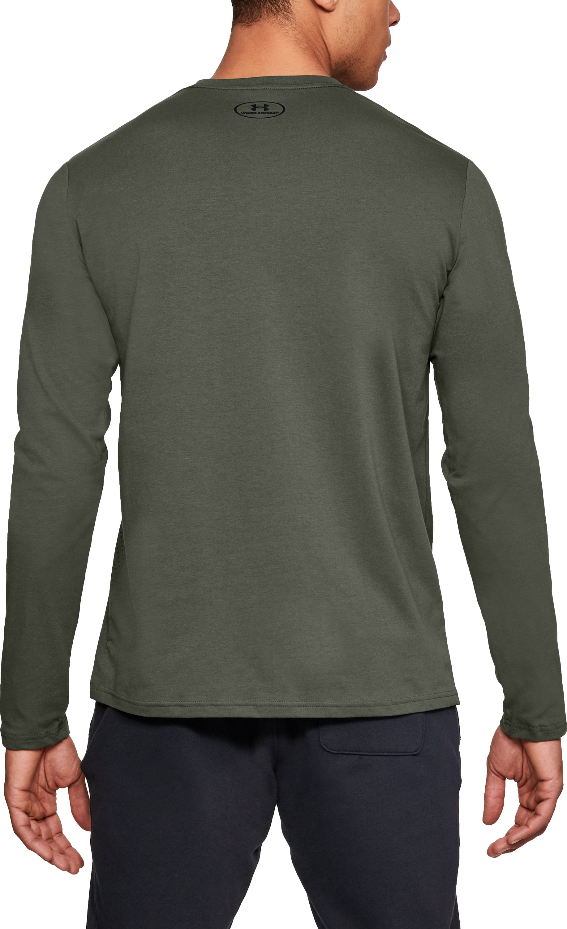 Men's UA Branded Gradient Long Sleeve, DOWNTOWN GREEN,