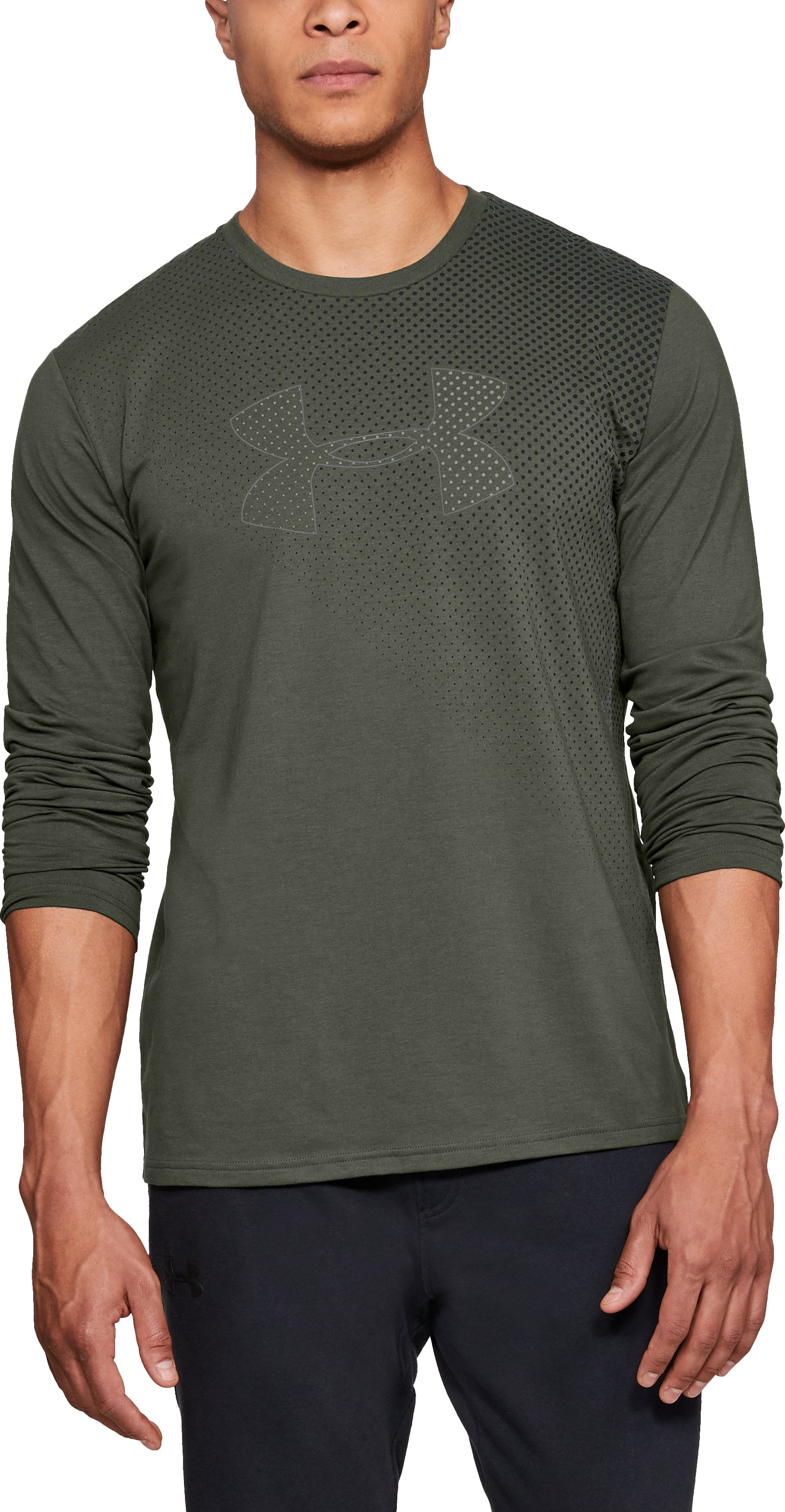 Men's UA Branded Gradient Long Sleeve, DOWNTOWN GREEN
