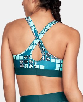 Women's Armour® Mid Crossback Metallic Print Sports Bra  1 Color $40
