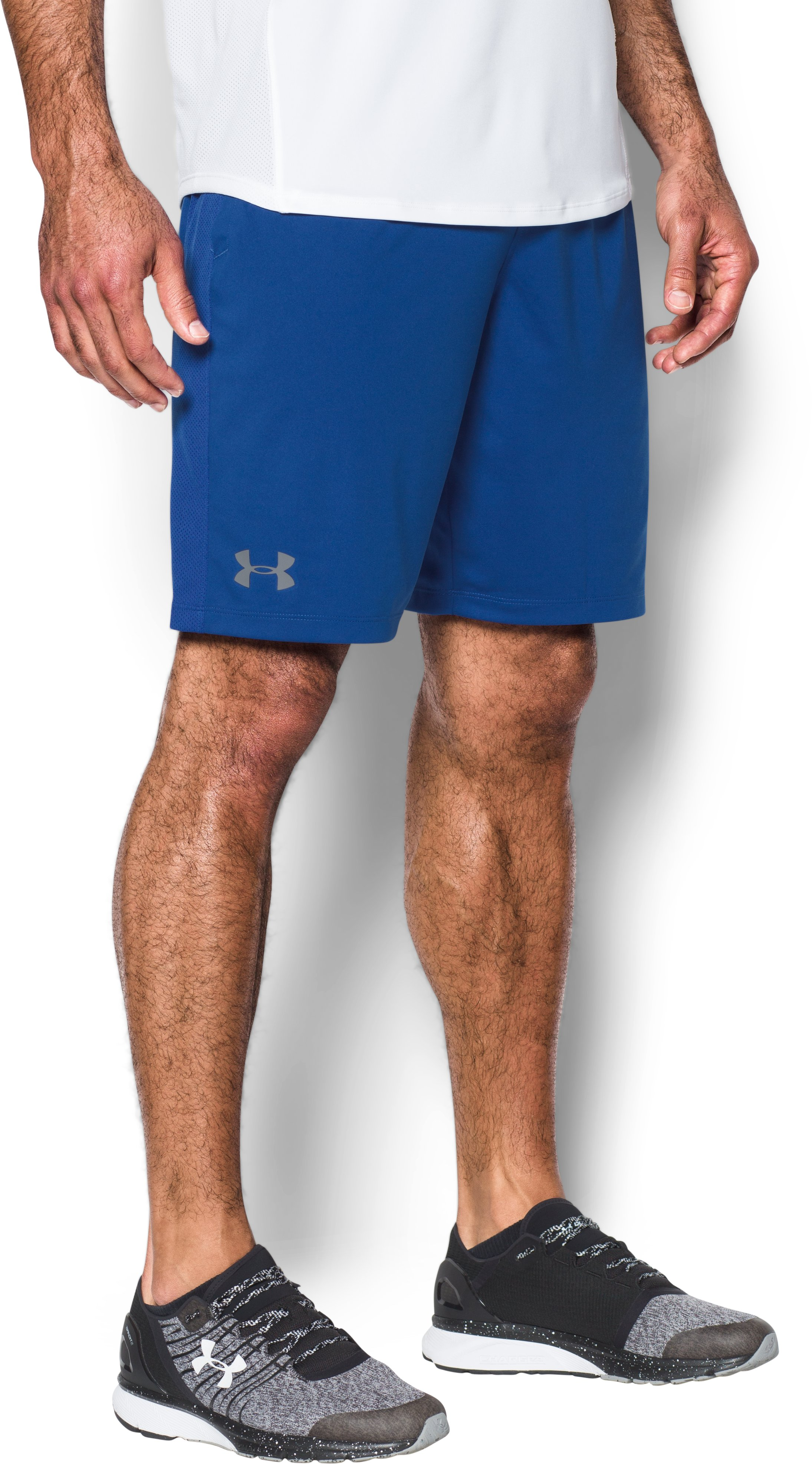 Men's HeatGear® Training Shorts, Royal,