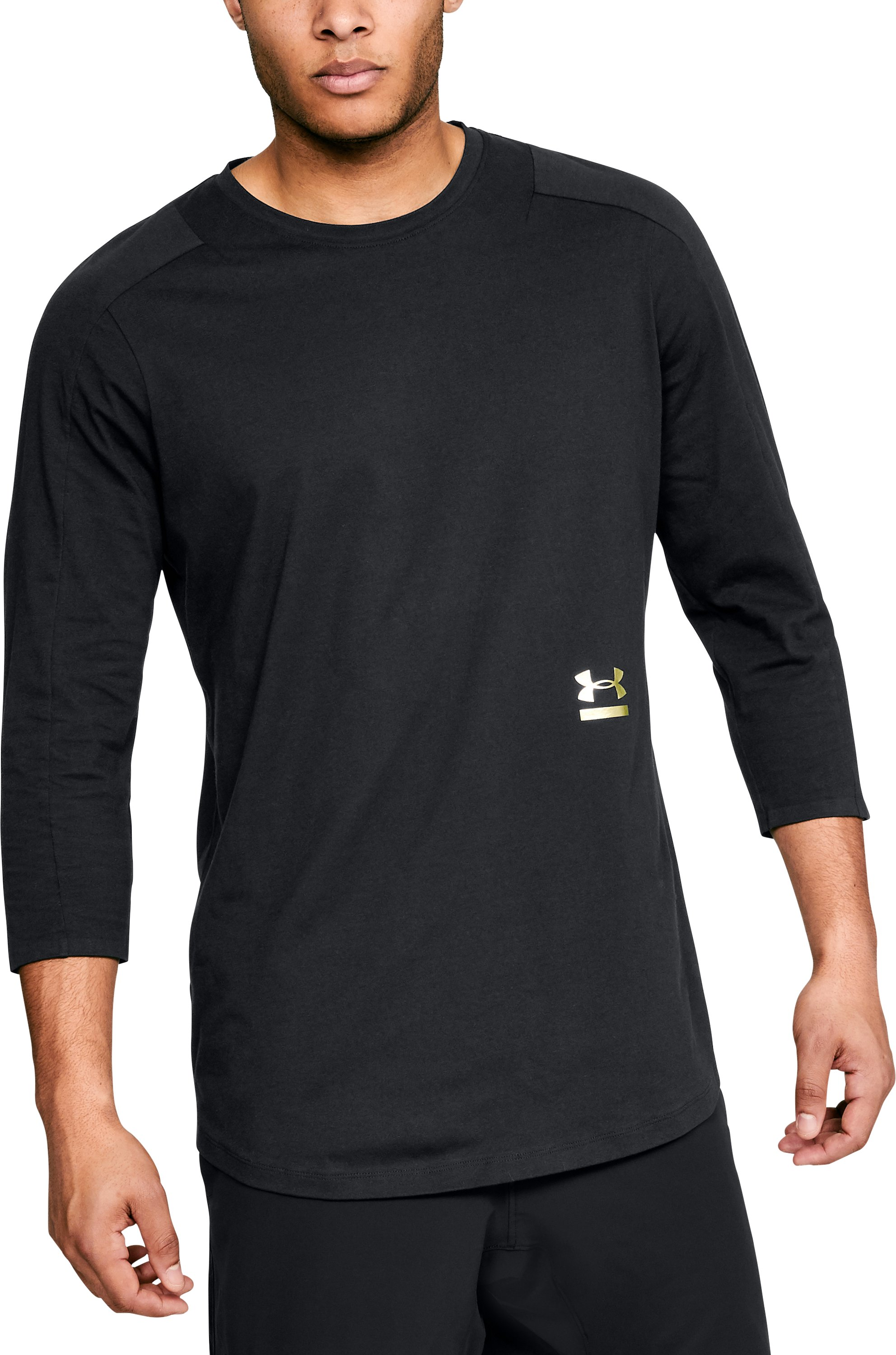 Men's UA Perpetual ¾ Sleeve, Black