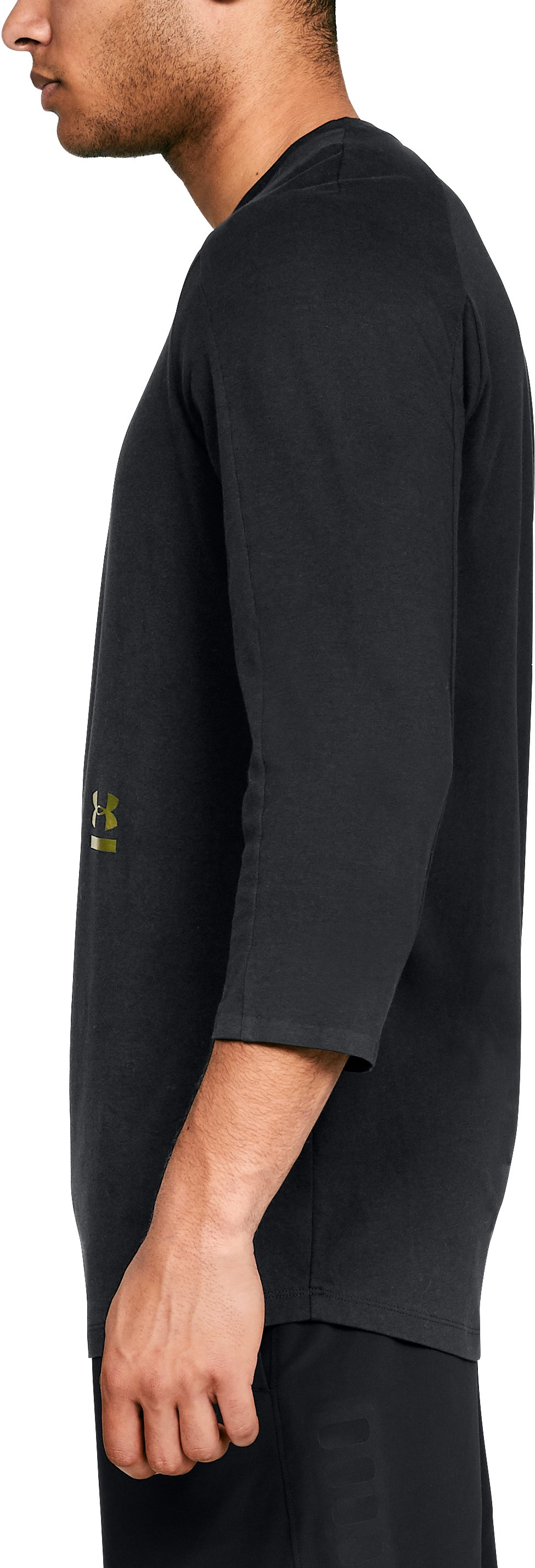 Men's UA Perpetual ¾ Sleeve, Black ,