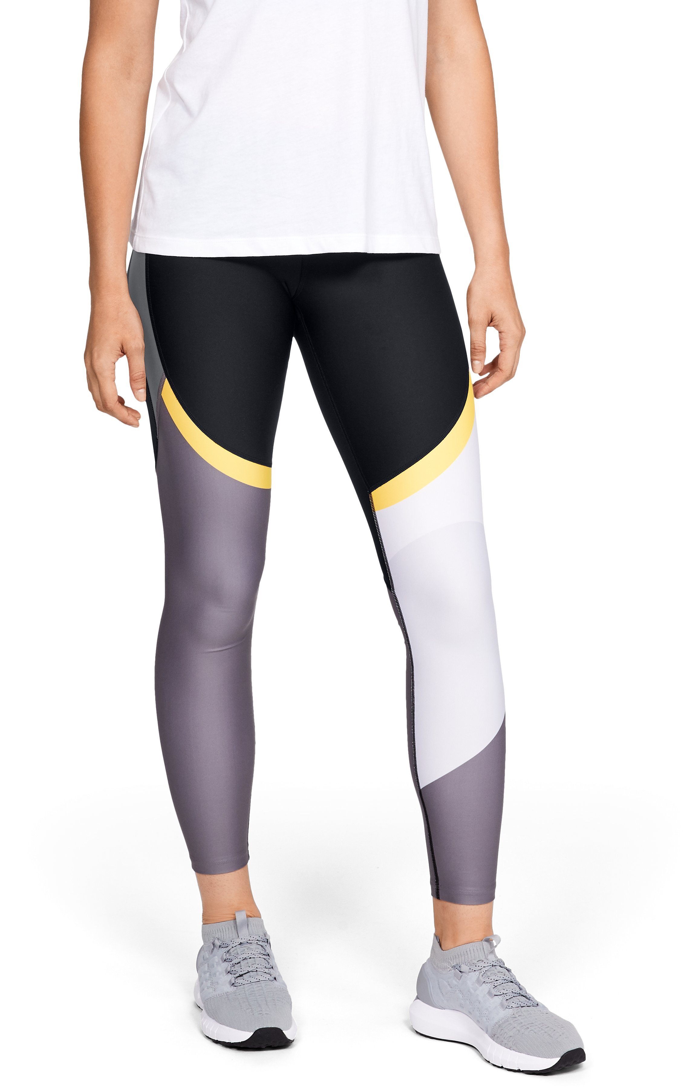 Women's UA Vanish Chop Block Engineered Leggings, Black