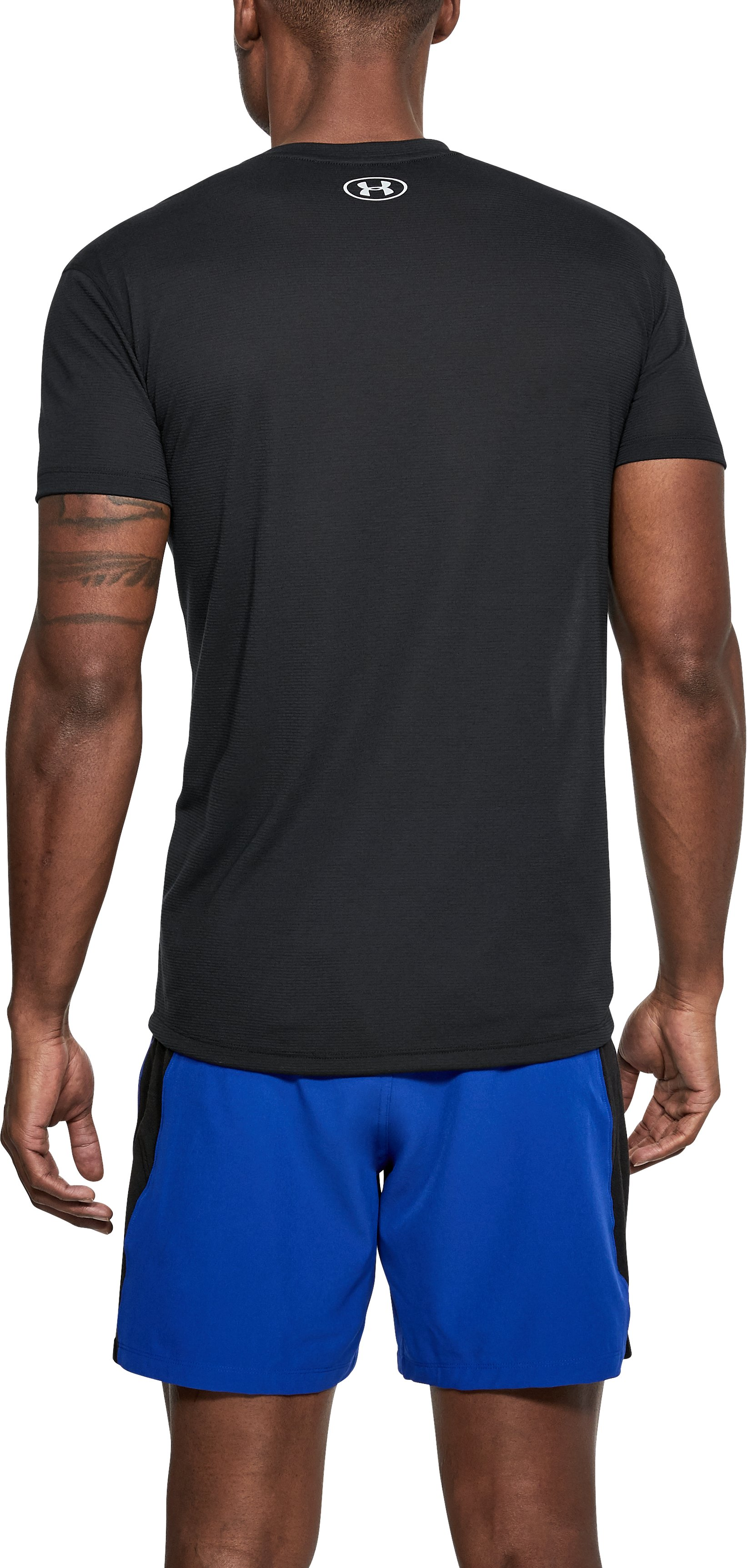 Men's UA Streaker Mesh Short Sleeve, Black ,