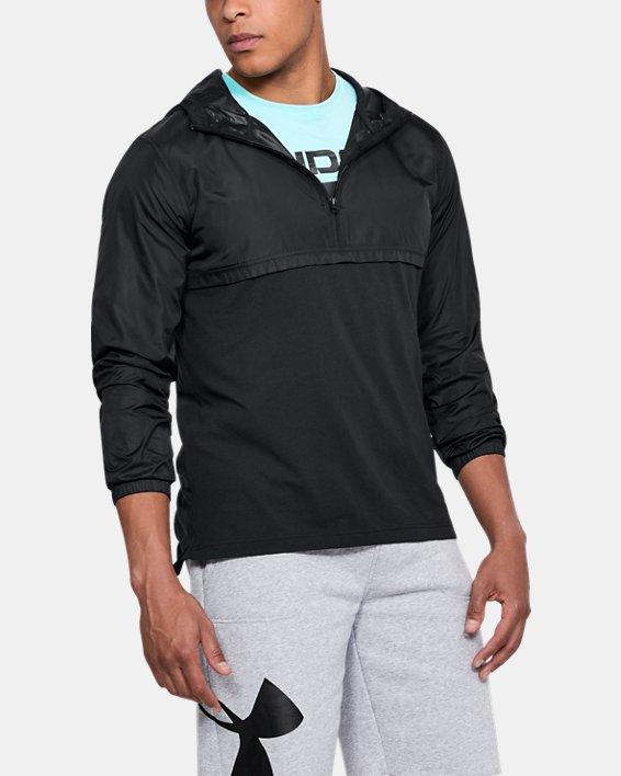 Men's UA Sportstyle Anorak, Black, pdpMainDesktop image number 0