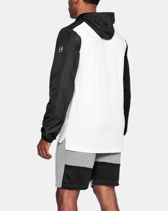 Anorak UA Sportstyle Wind pour homme, White, pdpMainDesktop image number 3
