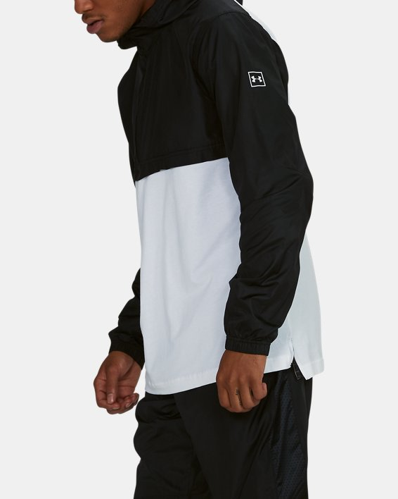 Anorak UA Sportstyle Wind pour homme, White, pdpMainDesktop image number 4