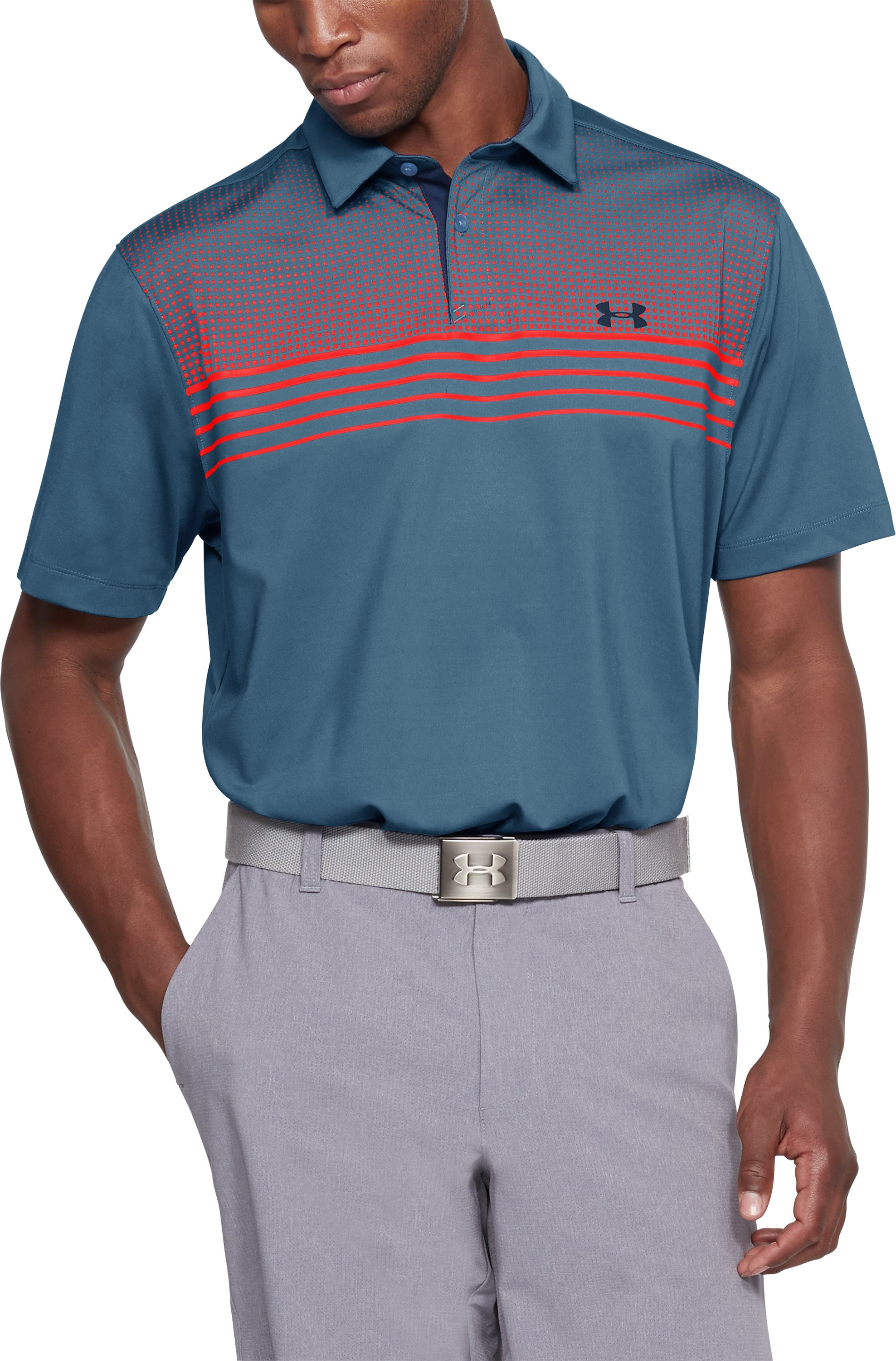 Men's UA CoolSwitch Launch Polo, BASS BLUE