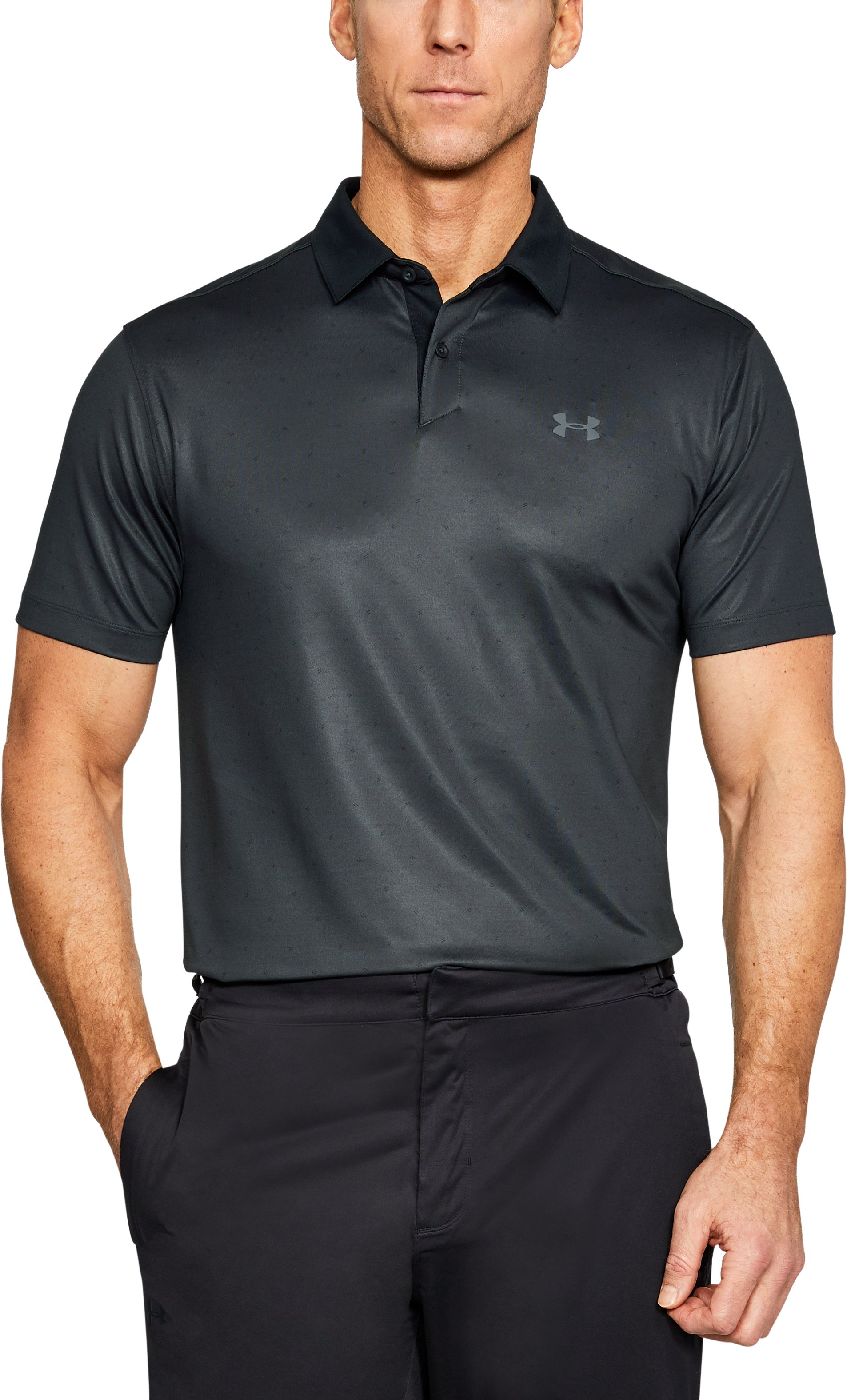Men's UA CoolSwitch Dash Polo, ANTHRACITE,
