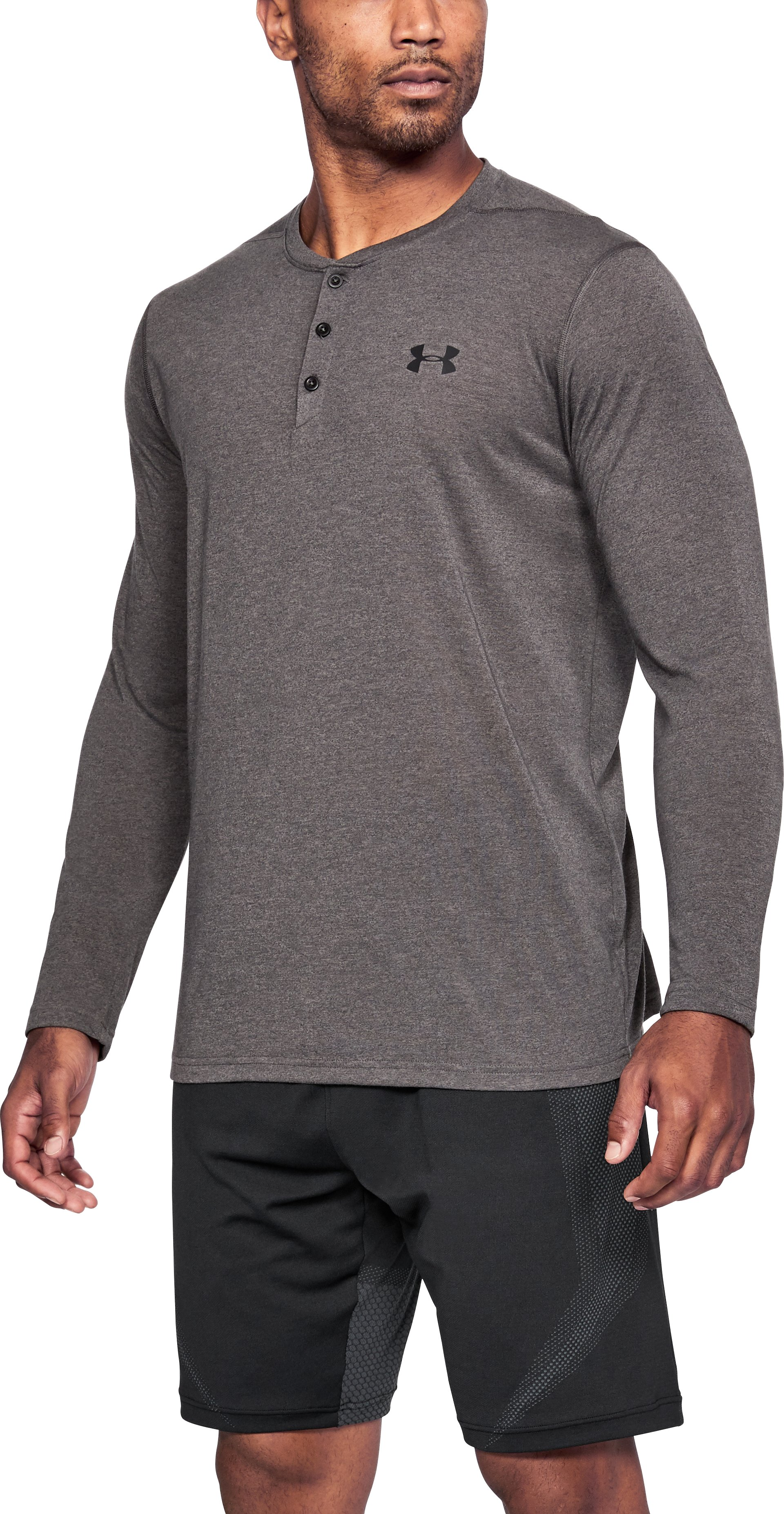 Men's UA Siro Henley, Charcoal