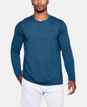 New Arrival  Men's UA Threadborne Henley  1 Color $45