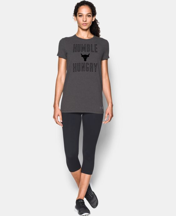 Women's UA x Project Rock Humble & Hungry T-Shirt  1 Color $34.99
