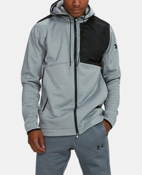 Men's UA Pursuit Stealth Full Zip Hoodie  2  Colors Available $59.99 to $74.99