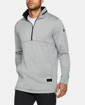 Men's UA Pursuit Hooded Funnel Neck ¼ Zip  1 Color $99.99