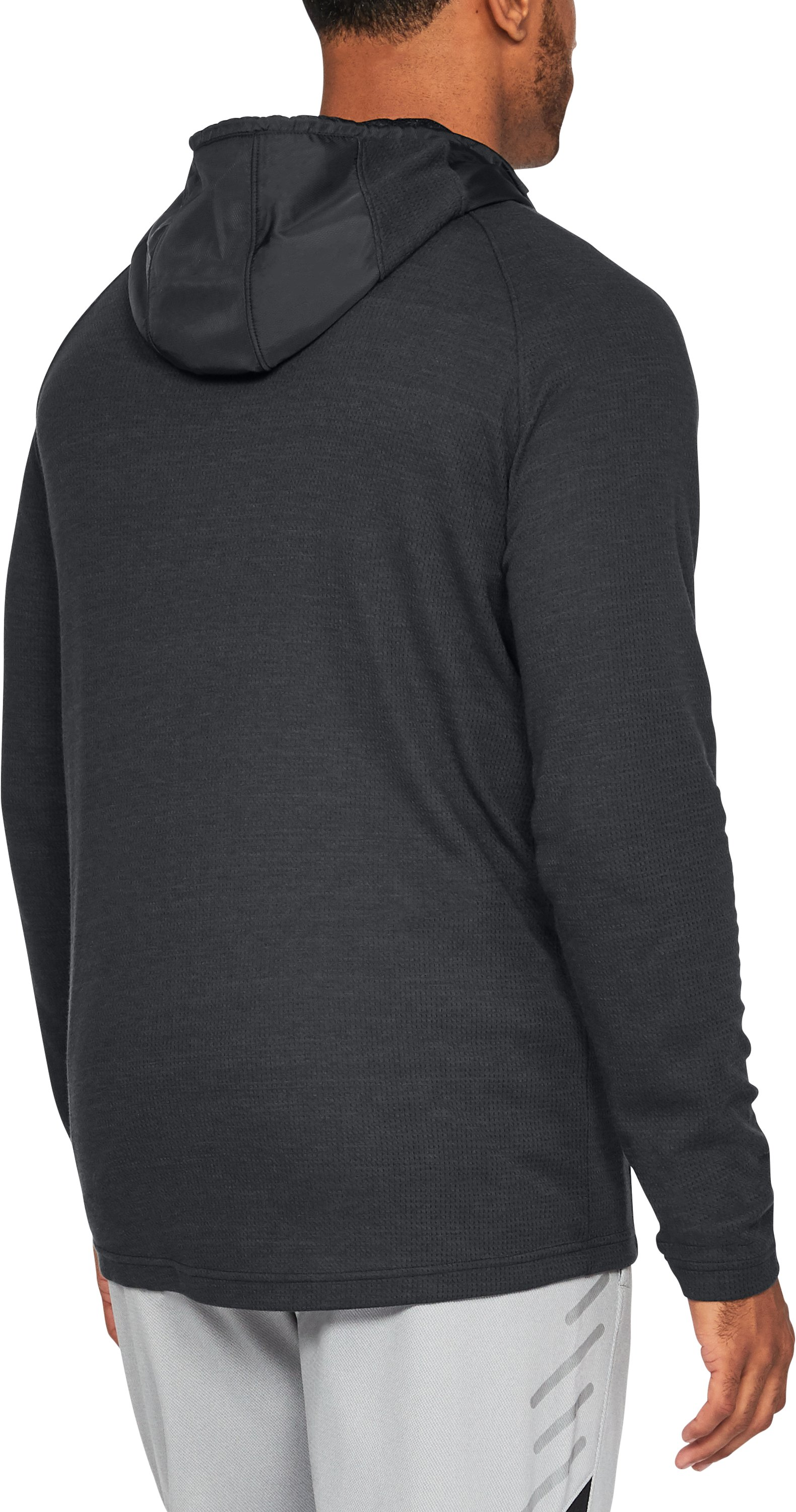 Men's UA Pursuit Subsurface Hoodie, Black , undefined