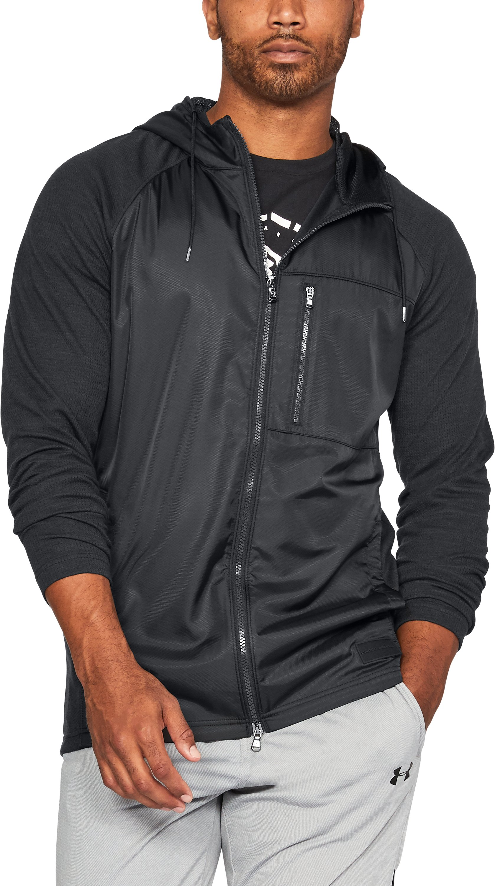 Men's UA Pursuit Subsurface Hoodie, Black