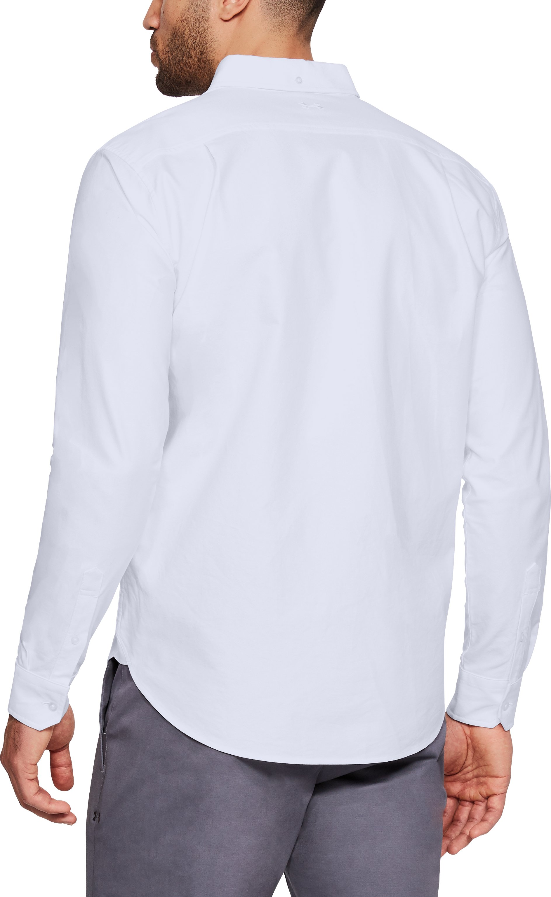 Men's UA Performance Oxford Long Sleeve, White, undefined