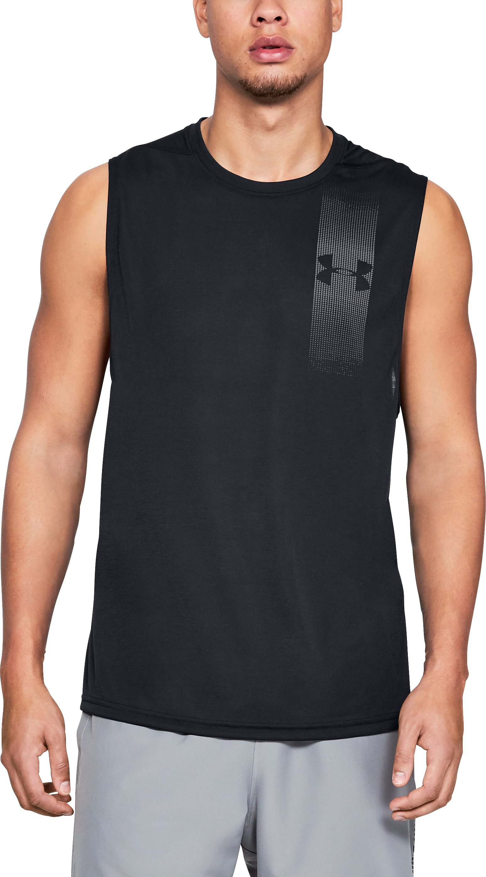 Men's UA Siro Muscle Tank Graphic, Black