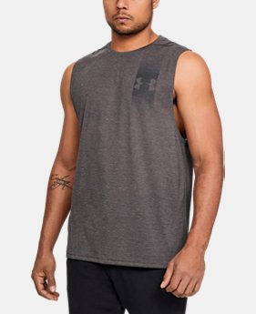 Men 39 s sleeveless shirts tank tops under armour us for Mens athletic cut shirts