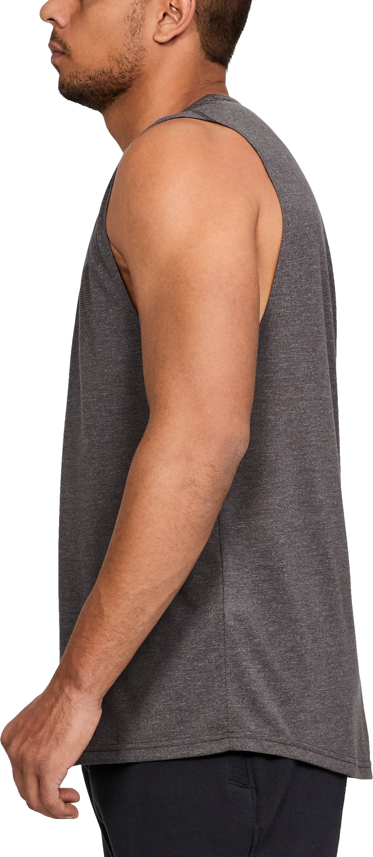 Men's UA Siro Muscle Tank Graphic, CHARCOAL FULL HEATHER, undefined