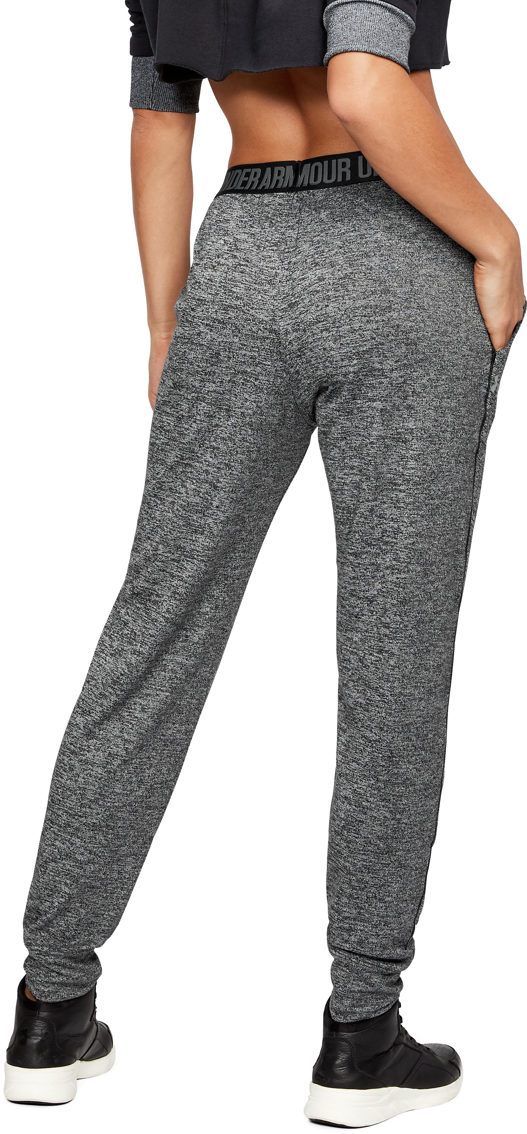 Women's UA Play Up Twist Pants, Black , undefined