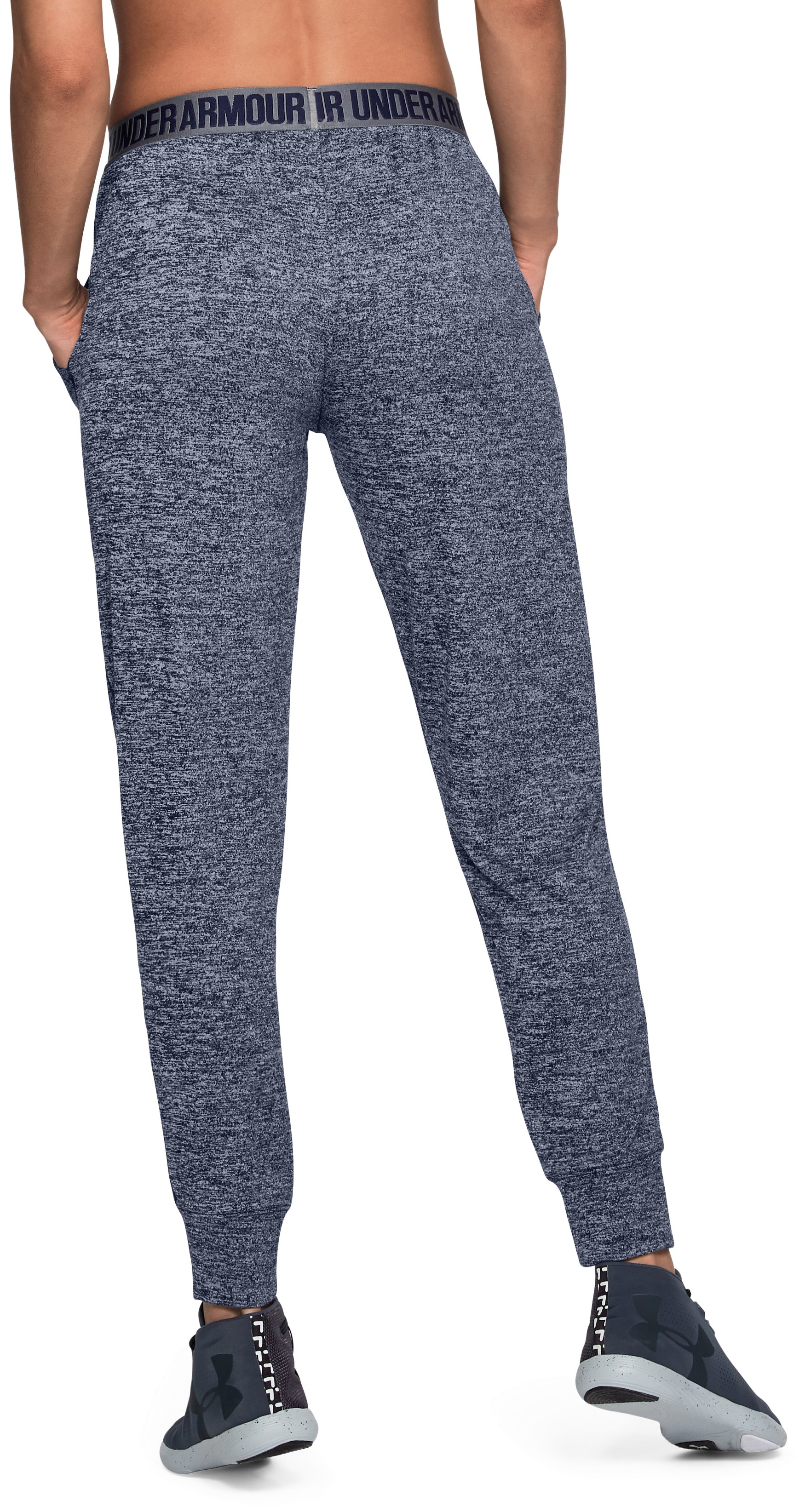 Women's UA Play Up Twist Pants, Midnight Navy,