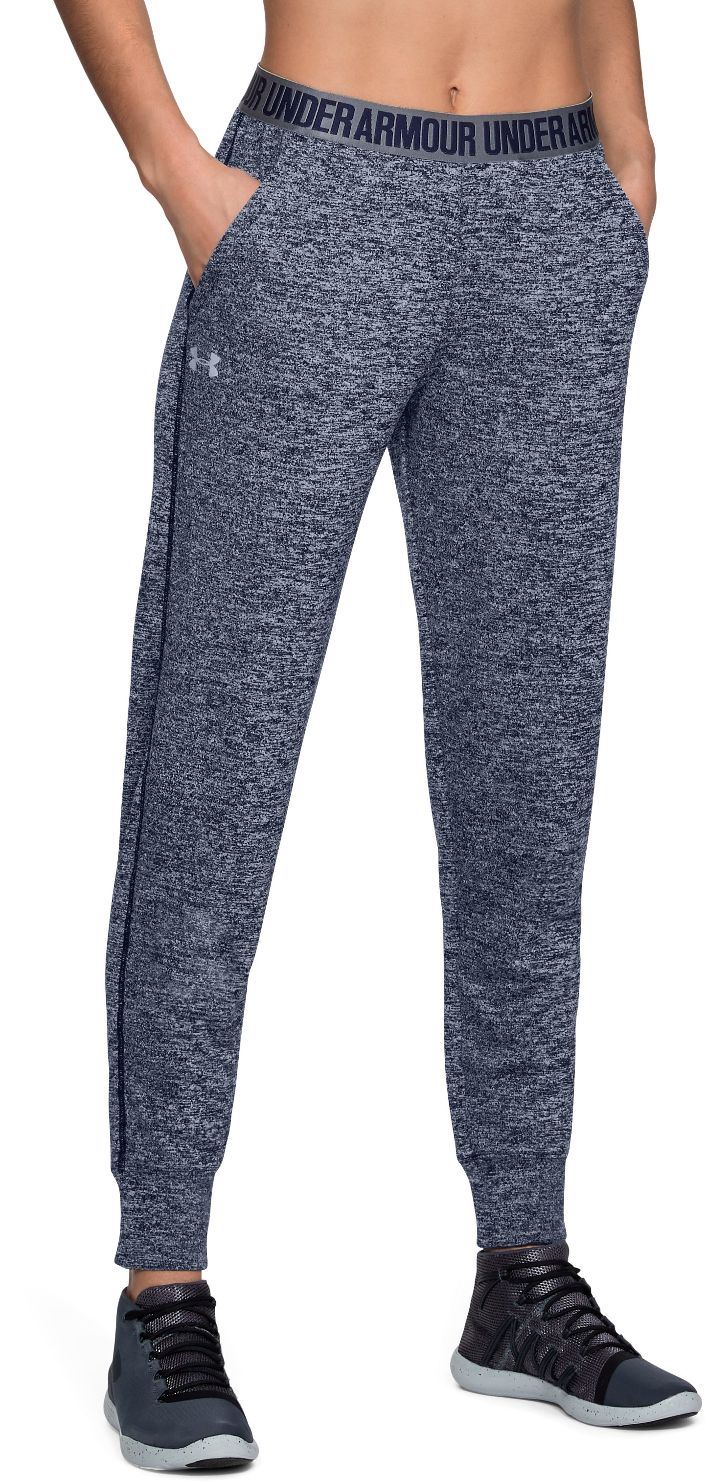 Women's UA Play Up Twist Pants, Midnight Navy