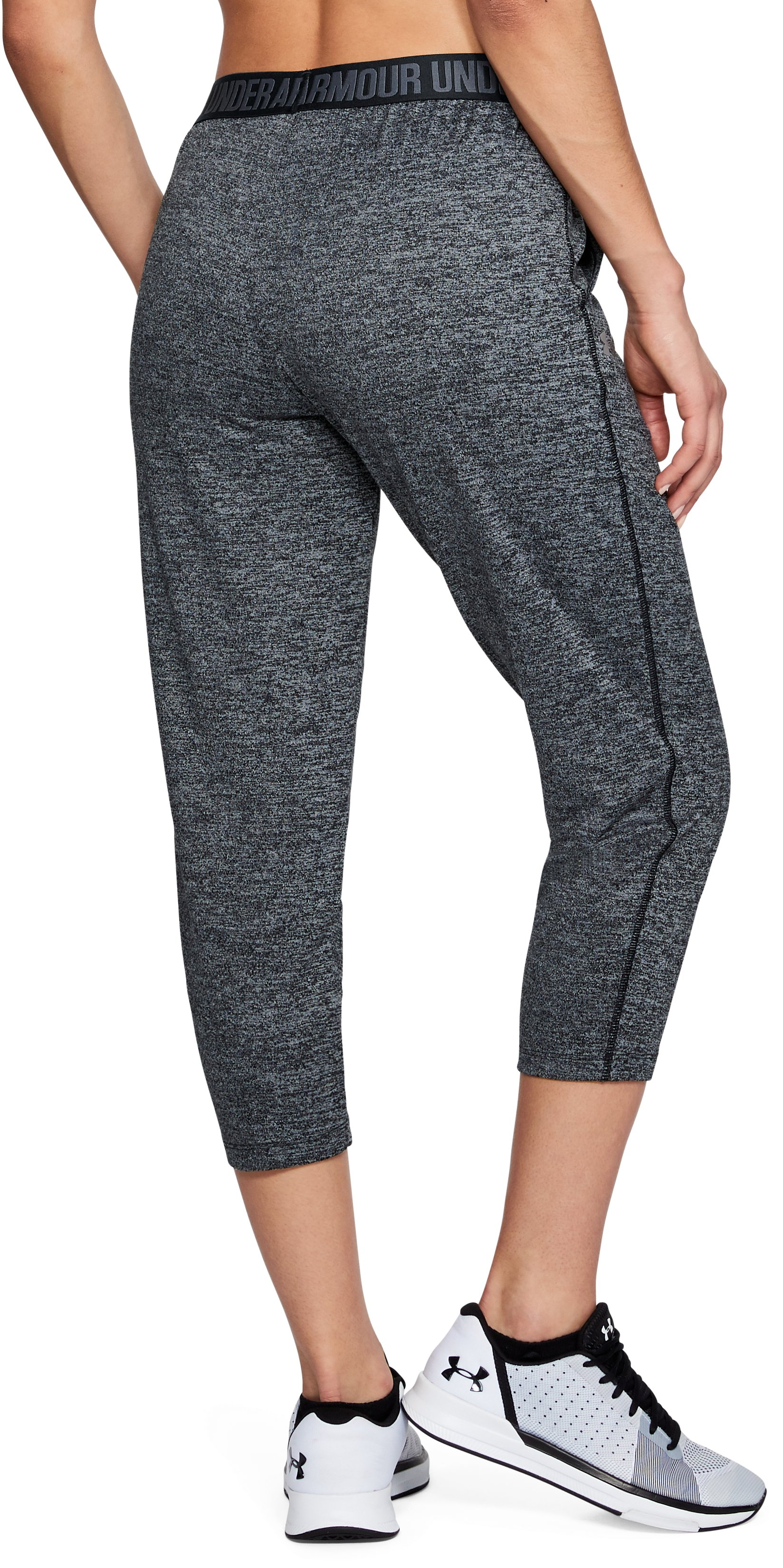 Women's UA Play Up Twist Capris, Black ,
