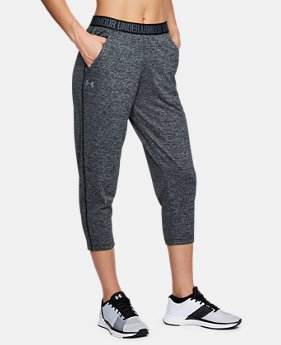 Women's UA Play Up Twist Capri  1  Color Available $40