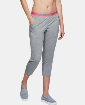 New Arrival  Women's UA Play Up Twist Capri  1  Color Available $45