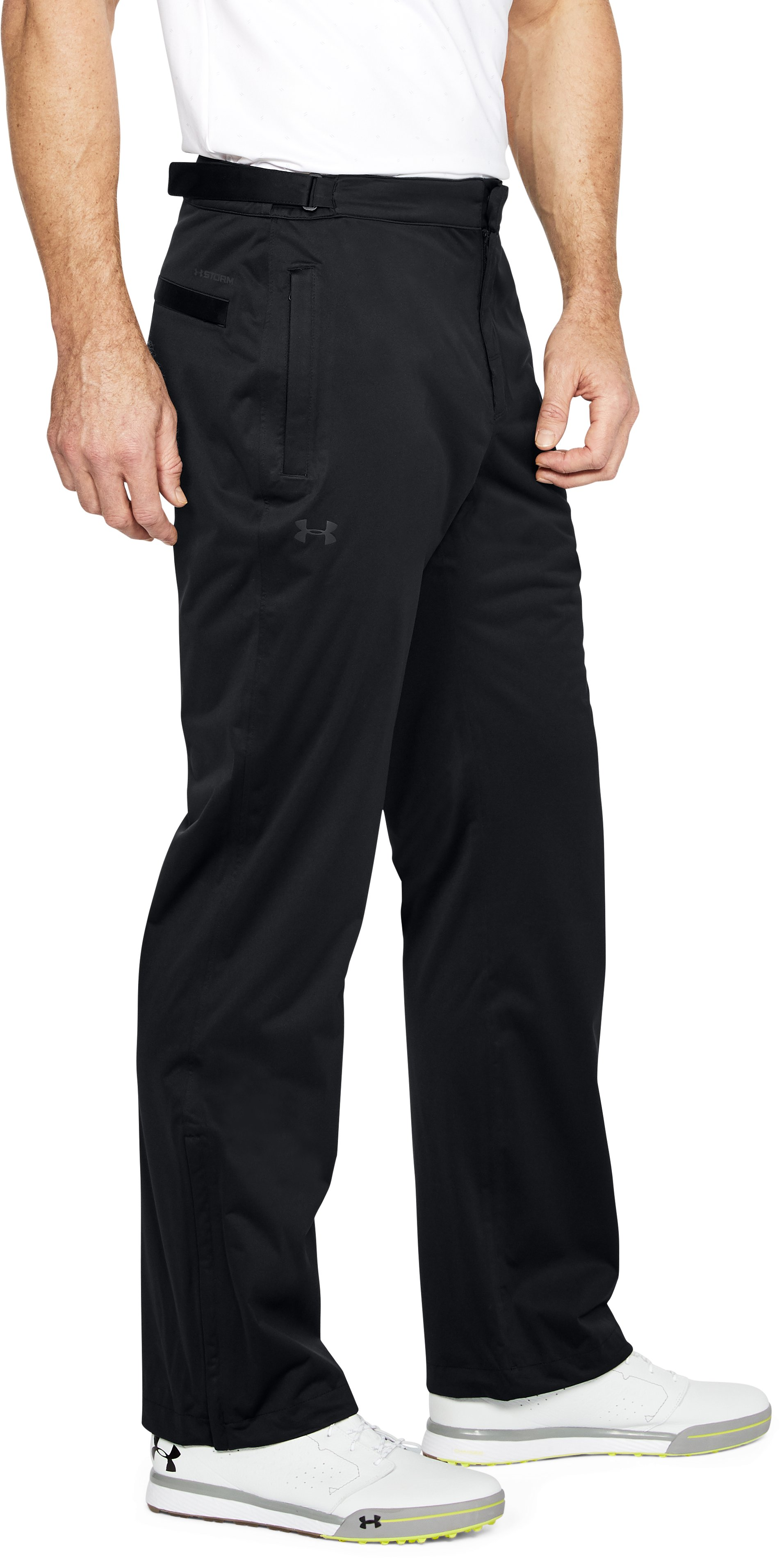 Men's UA Storm Rain Pants, Black ,