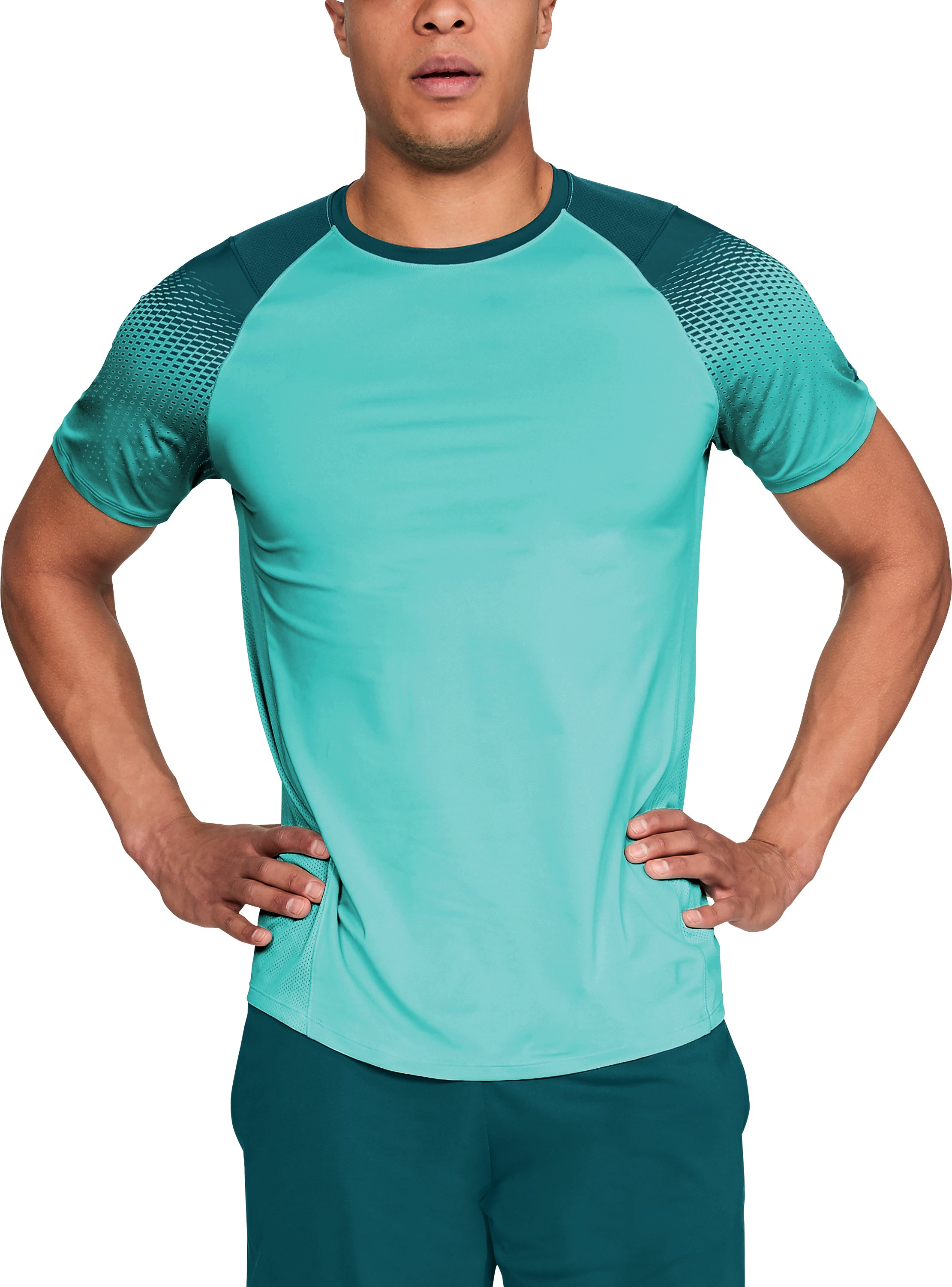 Men's UA MK-1 Dash Print Short Sleeve, TROPICAL TIDE
