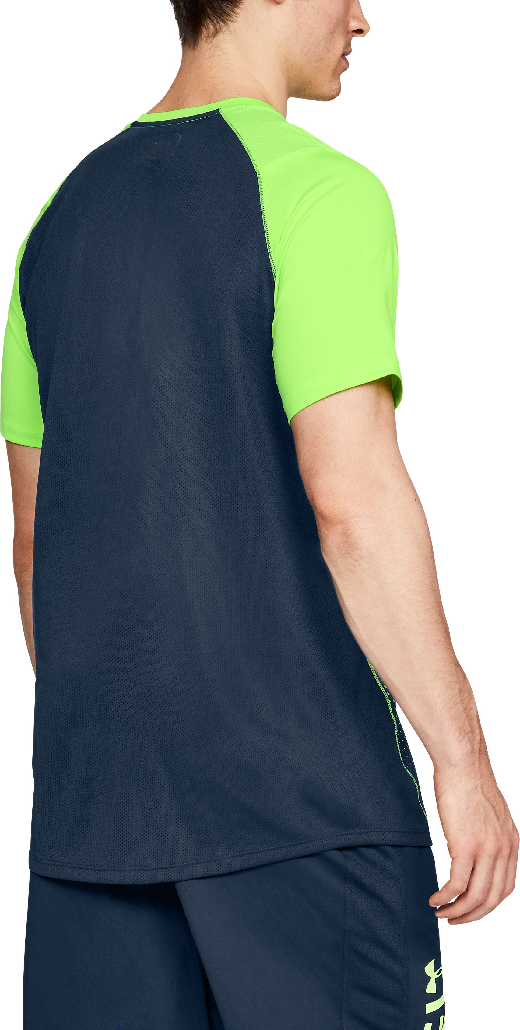 Men's UA MK-1 Dash Fade Short Sleeve, QUIRKY LIME,