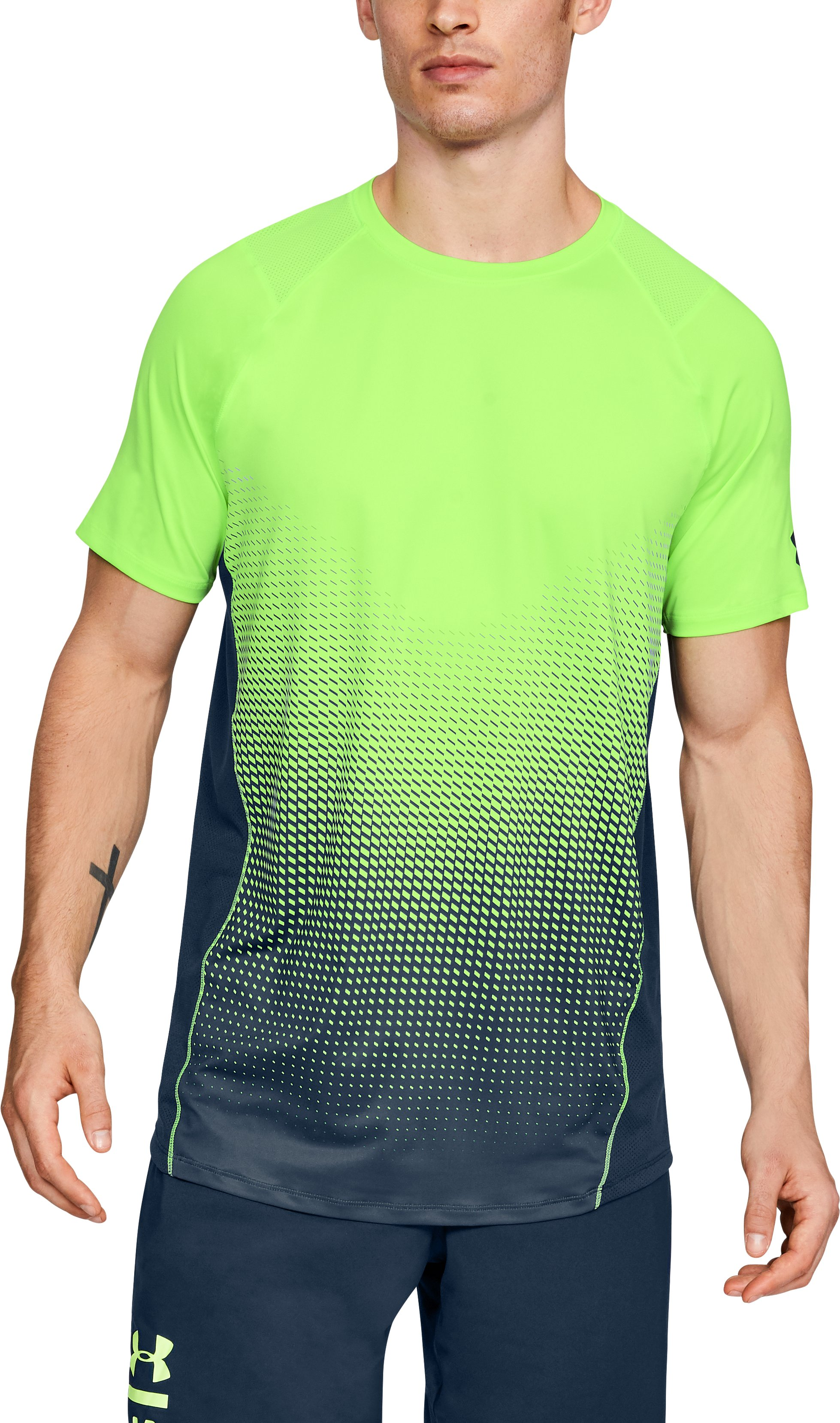 Men's UA MK-1 Dash Fade Short Sleeve, QUIRKY LIME