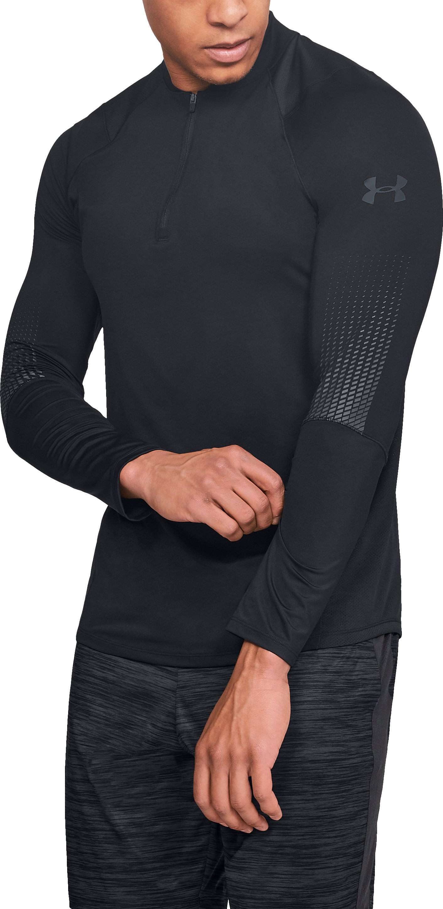 Men's UA MK-1 ¼ Zip Graphic, Black ,