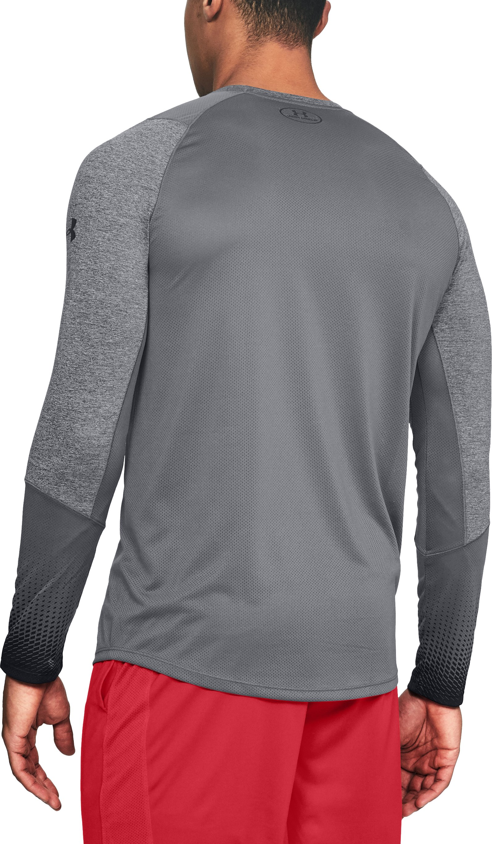 Men's UA MK-1 Long Sleeve Graphic, RHINO GRAY LIGHT HEATHER,