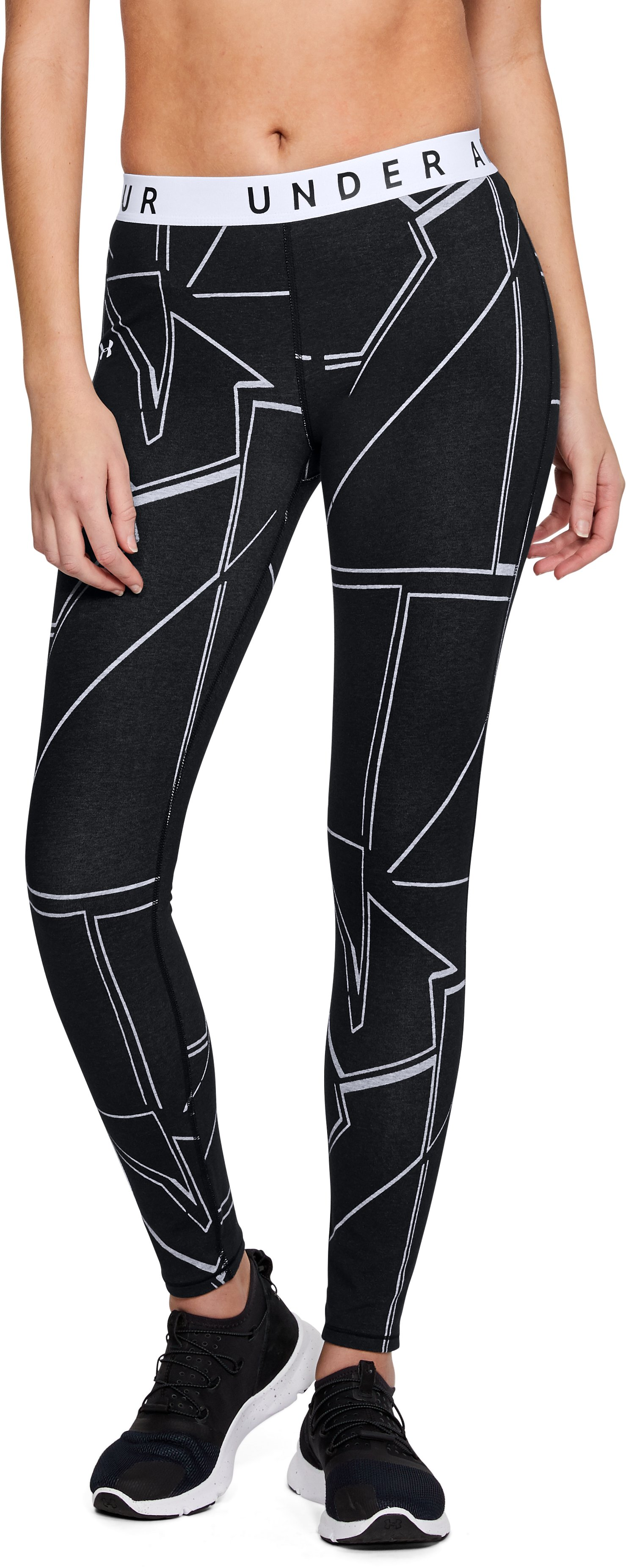 Women's UA Favorite Graphic Leggings, Black ,
