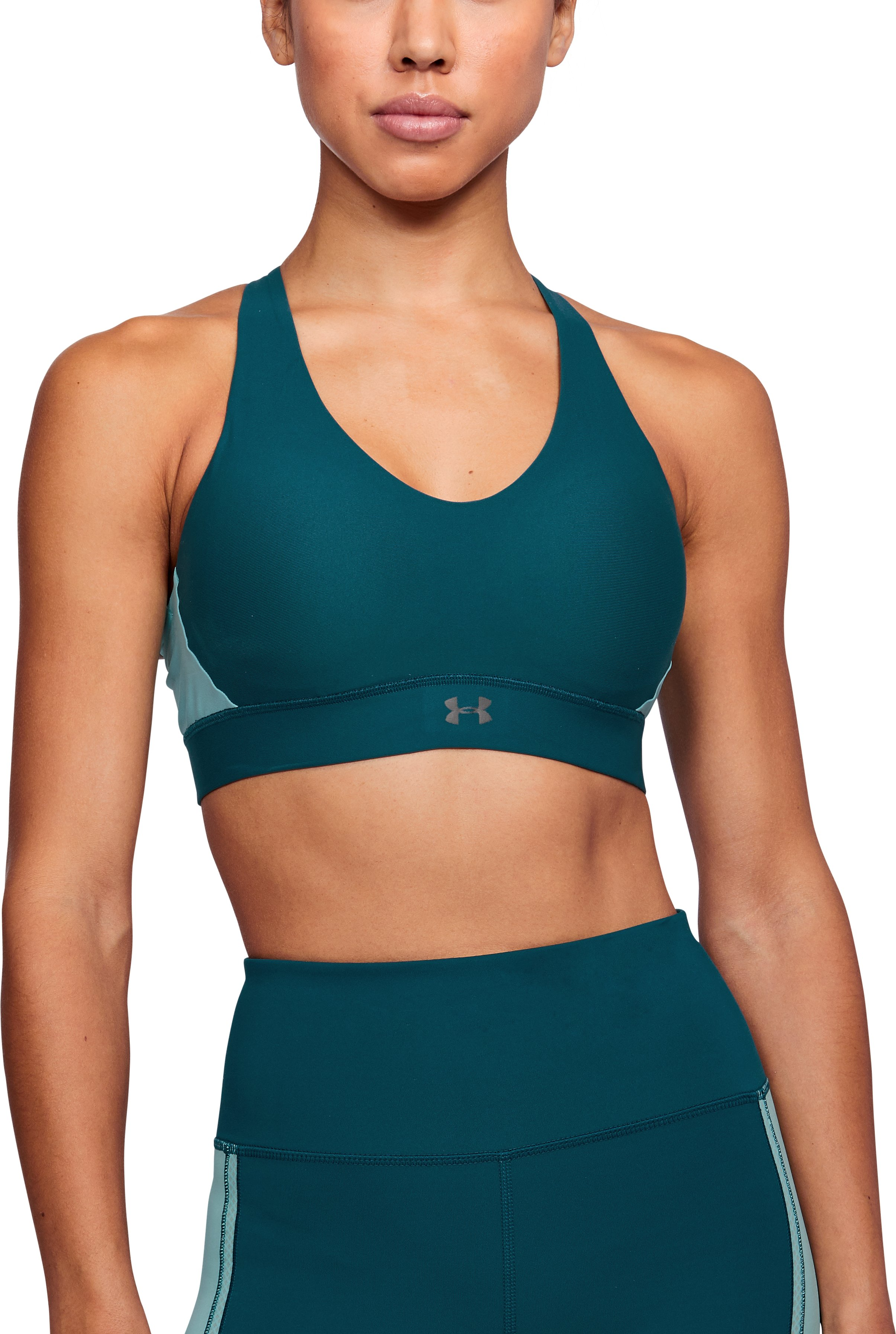 Women's UA Vanish Mid Sports Bra, TOURMALINE TEAL