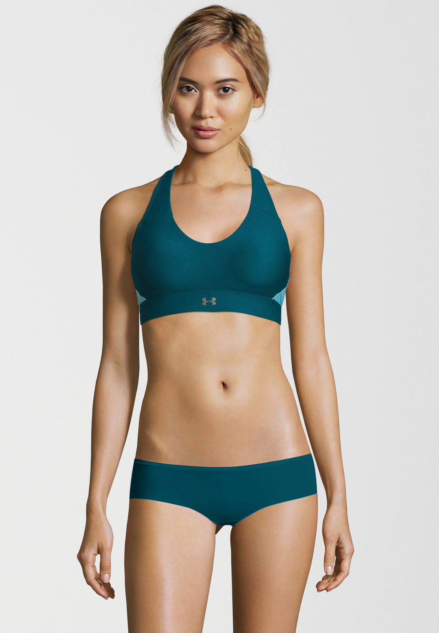 Women's UA Vanish Mid Sports Bra, TOURMALINE TEAL,