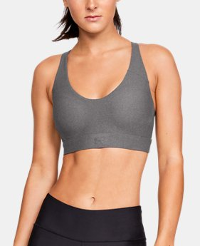 Women's UA Vanish Mid Heathered Sports Bra  4  Colors Available $40
