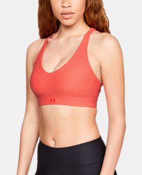 Women's UA Vanish Mid Heathered Sports Bra  4  Colors Available $55