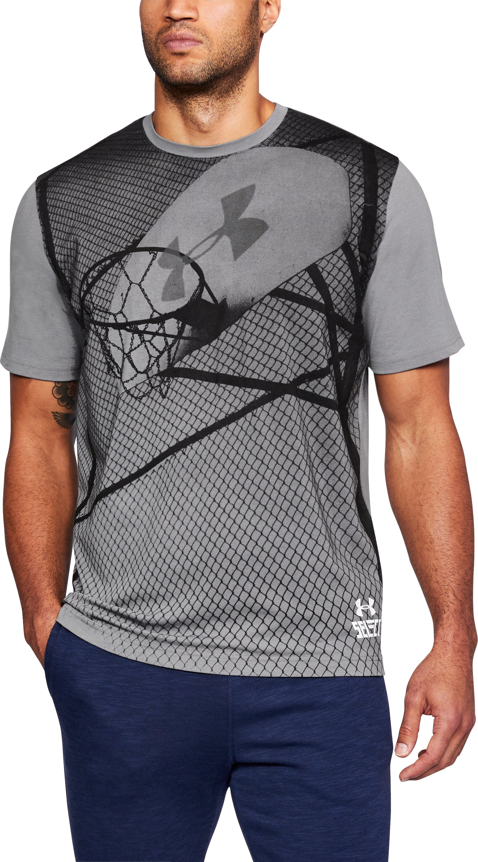 Men's UA BBall Select T-Shirt, Graphite, undefined