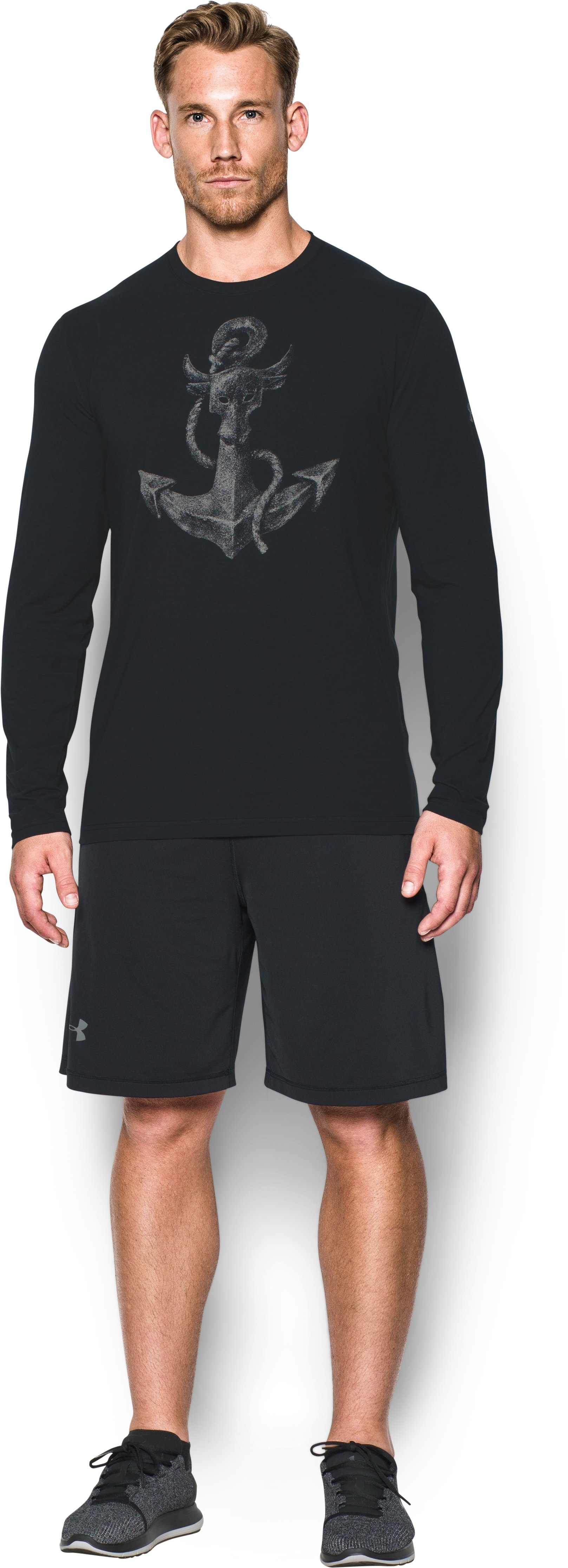 Men's UA x Project Rock Find Your Anchor Long Sleeve T-Shirt, Black