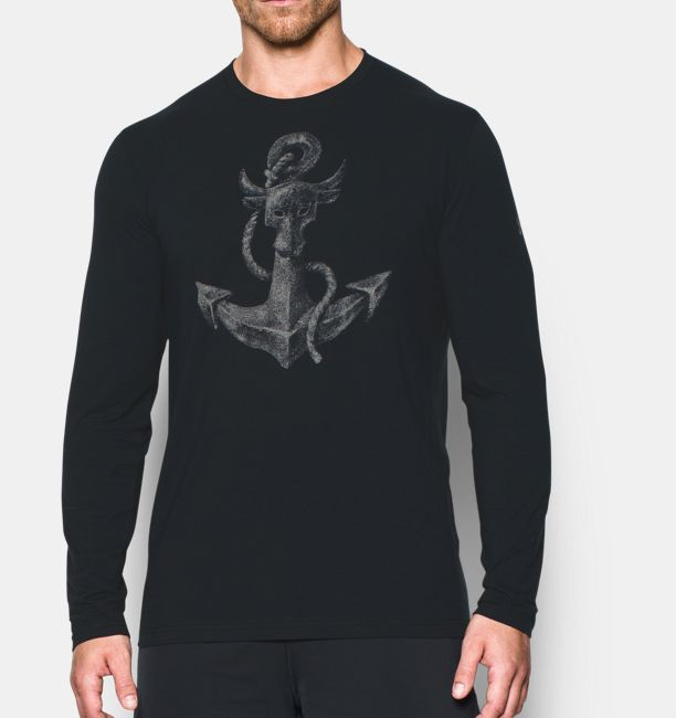 Mens Ua X Project Rock Find Your Anchor Long Sleeve T Shirt Under