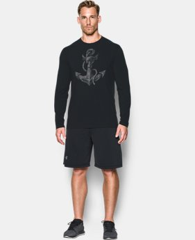 New Arrival Men's UA x Project Rock Find Your Anchor Long Sleeve T-Shirt *Ships 12/20/2016*  1 Color $44.99