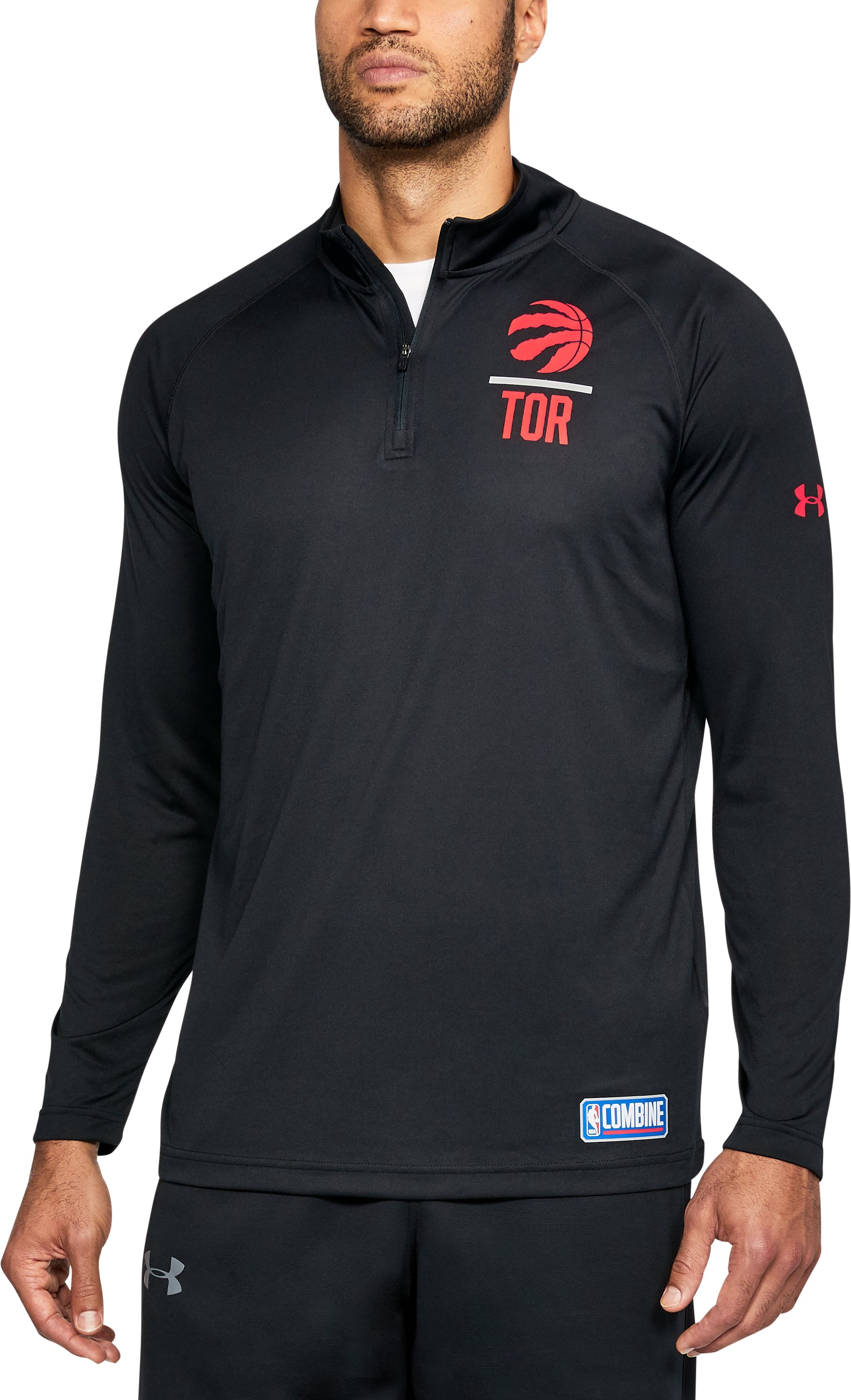 Men's NBA Combine UA Tech™ ¼ Zip, NBA_TORONTO RAPTORS_BLACK,