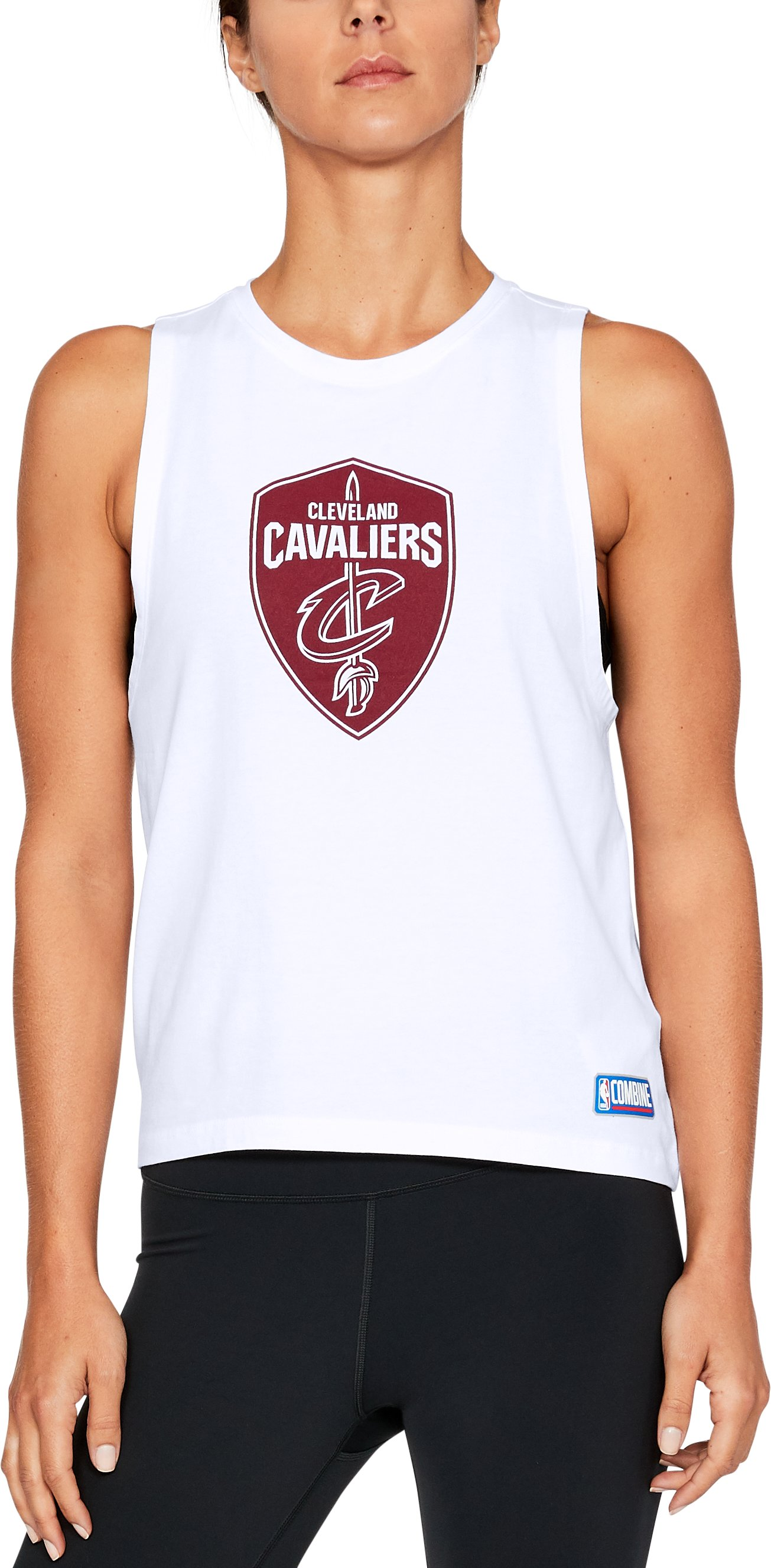 Women's NBA Combine Authentic Muscle T-Shirt, NBA_CLEVELAND CAVALIERS_WHITE